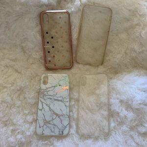 Accessories - iPhone X case bundle of 4